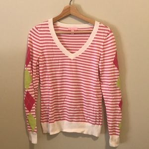 Lilly Pulitzer Pink Striped Sweater M